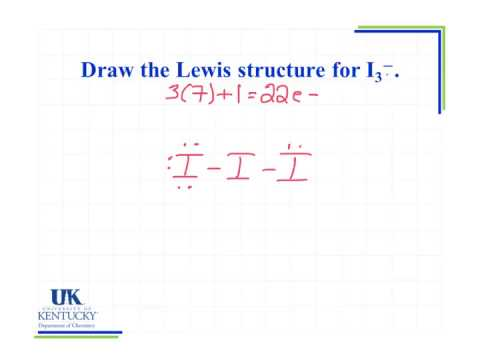 I 3 Lewis Dot Structure 6.07 Draw the Lewis st...