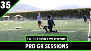 1 vs 1's & Angle Shot Stopping | Goalkeeper Training | Pro Gk Sessions