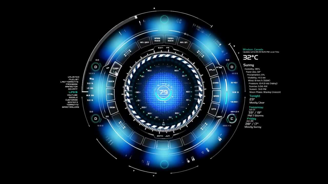 Iphone X Motherboard Wallpaper Windows Desktop Mod Arc Reactor Youtube
