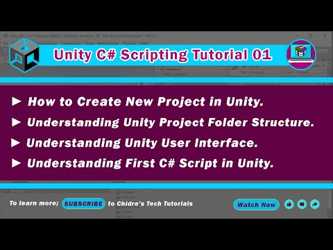 C# Unity 1 - Creating and executing a project, UI,  folder structure