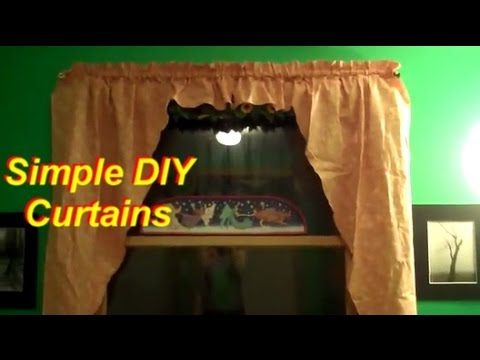 How To Make Simple Curtains Part 1 Cutting