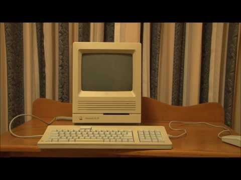 Apple Macintosh SE/30 (1989) Full Tour, Start Up and Demonstration