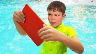 Макс нашел свой iPad в воде