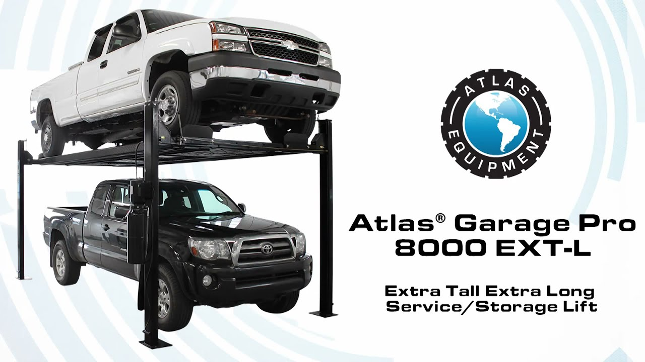 atlas garage pro 8000 ext l 4 post lift extra tall extra long