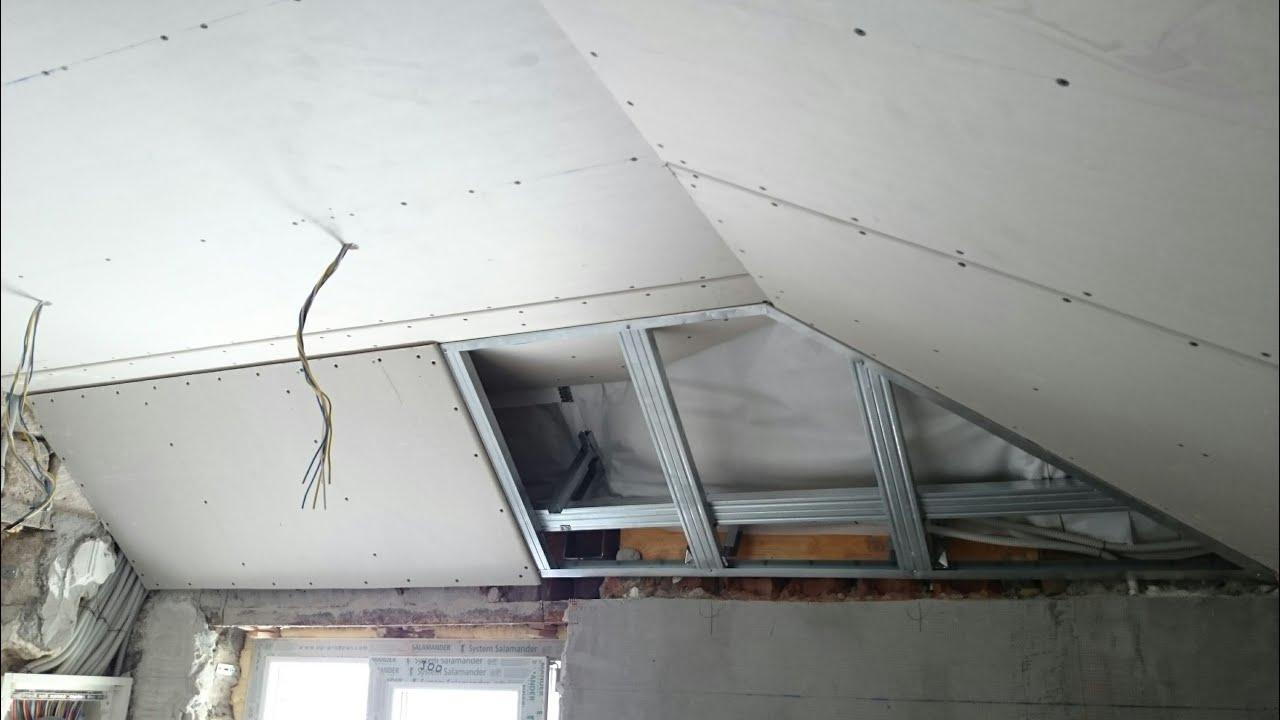 Мансардный потолок гипсокартон