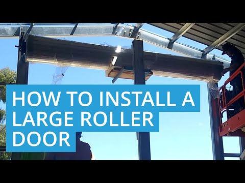 How to Install a Chain Operated Roller Door on a Boat Shed