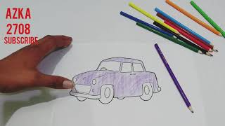 coloring kids car pictures is super funny video for kids