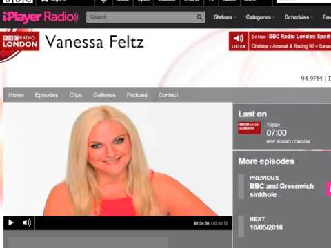 Vanessa Feltz BBC Radio London 94.9 Show Trails 2015/2016 1