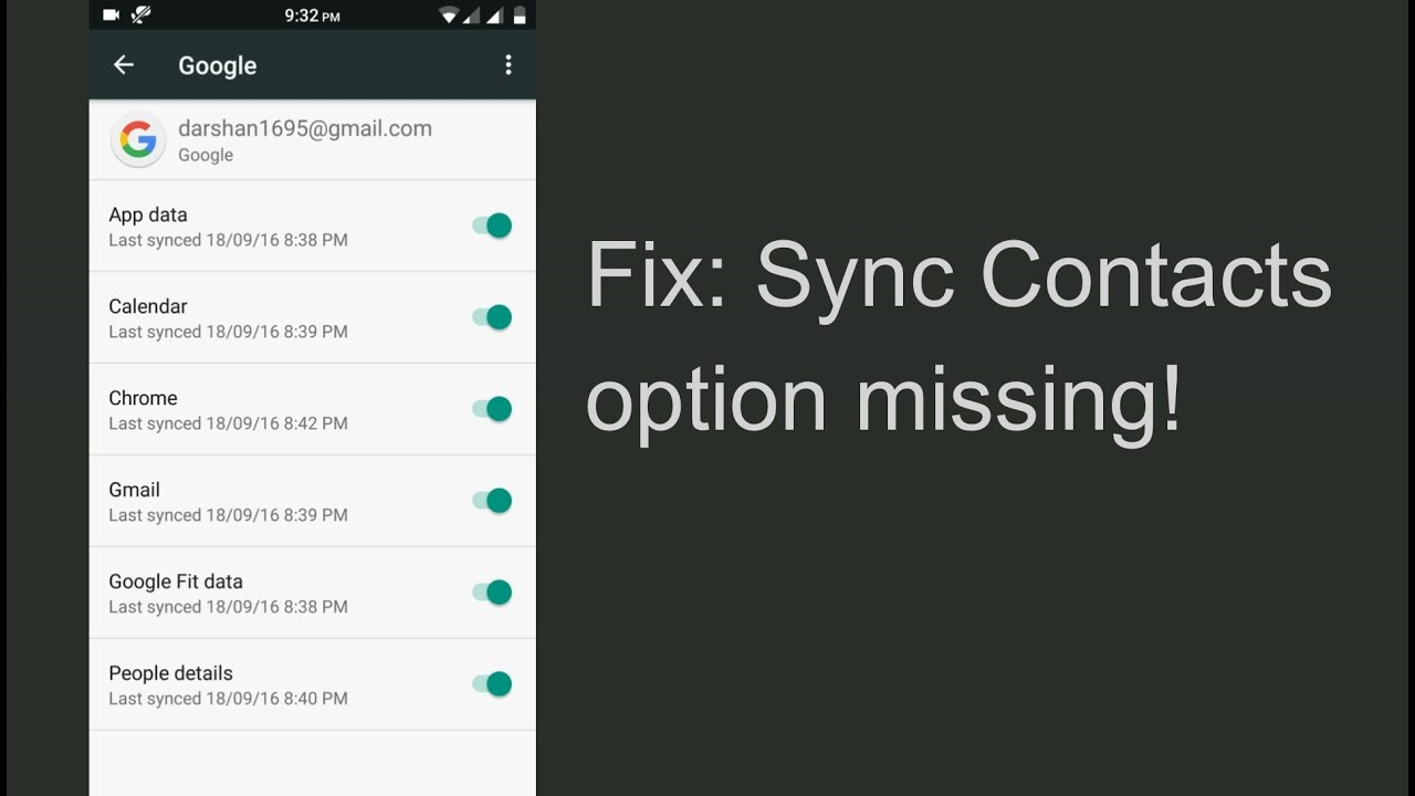 Fix missing sync contacts option [ Root / No Root ] Solved