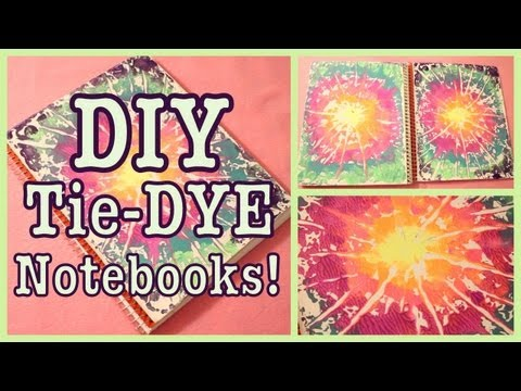 DIY: TIE-DYE Notebooks! | Great School