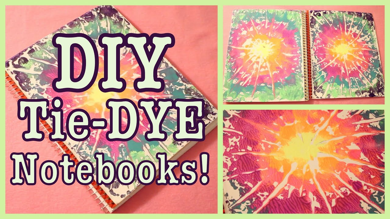Diy tie dye notebooks back to school youtube for Back to school notebook decoration ideas