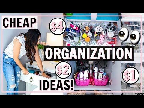 BUDGET FRIENDLY ORGANIZATION! HOW TO ORGANIZE FOR CHEAP! | Alexandra Beuter