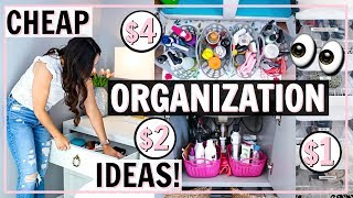 BUDGET FRIENDLY ORGANIZATION! HOW TO ORGANIZE FOR CHEAP! | Alexandra Beuter