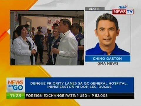 Dengue priority lanes sa QC general hospital, ininspeksyon ni DOH Sec. Duque