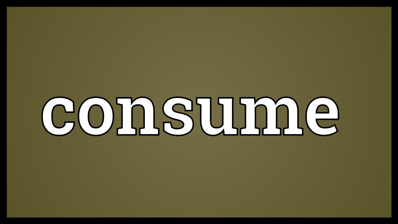 consumption pronunciation