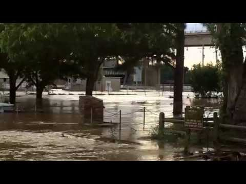 Arkansas River Flooding in Faulkner County Toad Suck Park/Lock and Dam!  5.30.15