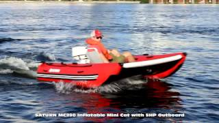 Inflatable Mini Cat with 5HP Outboard