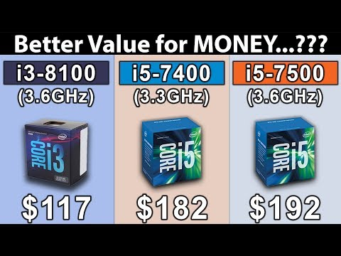 i3 8100 (3.6GHz) vs i5 7400 (3.3GHz) vs i5 7500 (3.6GHz) | Which is a Better Value For Money..??
