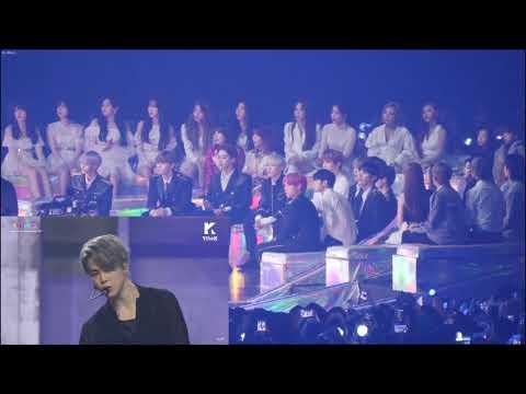 Idol (Black Pink/Wanna One/Mamamoo/ Ikon/ (G)I-dle/) Reaction To BTS - Fake Love @ MMA 2018 #MMA2018