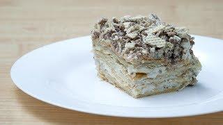 Ленивый наполеон. Вкусный слоеный торт за 20 минут