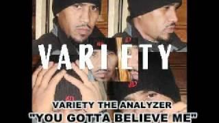 VARIETY THE ANALYZER DVD ---BELIEVE ME---AUDIO VIDEO TRACK