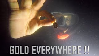 Underwater Search (Army Base) BIG GOLD!! Treasure Found with Owners (Orca Torch)