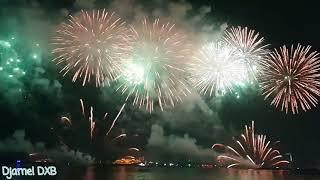 Amazing fireworks in JBR Happy New Year Dubai 2019