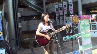 2011.07.23 BIG STEP前ストリートライブ 井上 苑子 『タイヨウのうた』