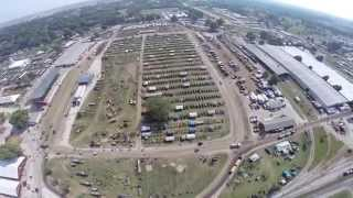 2015 Midwest Old Thresher's Reunion aerial view of the event