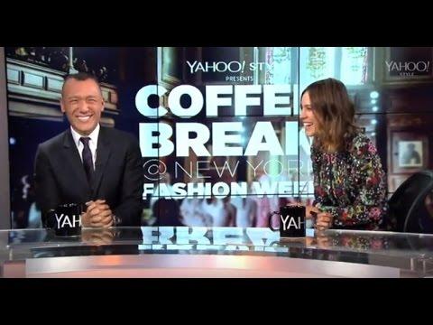 Joe Zee Welcomes Alexa Chung to Coffee Break