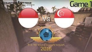 CS:GO TWC 2016 Game 1 : Indonesia VS Singapore (Quarter Final Asian Qualifier)
