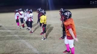 9u football w nathan and team locust grove falcons hitting drills
