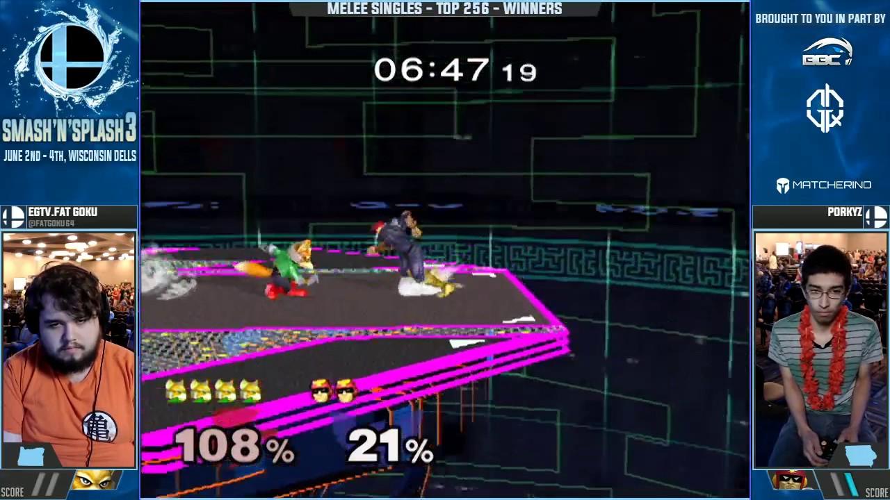 Smash N Splash 3 Egtv Fatgoku Fox Vs Porkyz C Falcon