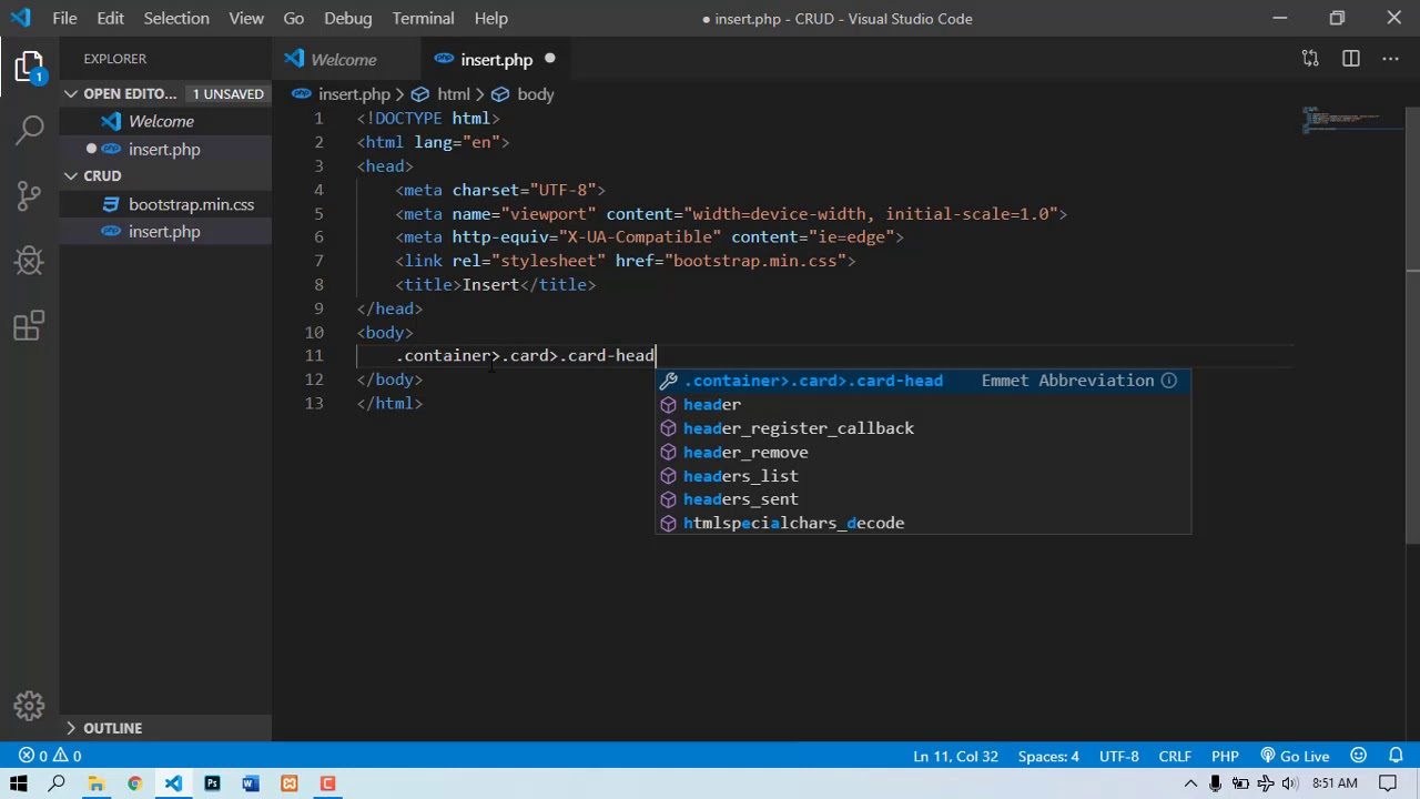 How To Create A Html Form And Connect Database Part 1