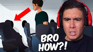 Have You Ever Seen A Ghost On A Plane?? (Reacting To Scary Animations)