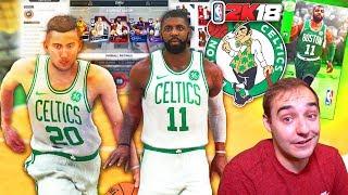 NBA 2K17 My Team NBA 2K18 CELTICS LINEUP! KYRIE IRVING & GORDON HAYWARD! WOOOOO!