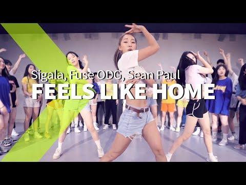 Sigala, Fuse ODG, Sean Paul - Feels Like Home (Lyric Video) ft. Kent Jones / JaneKim Choreography.