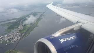 JetBlue Airbus A320-200 Takeoff from New York John F. Kennedy International Airport