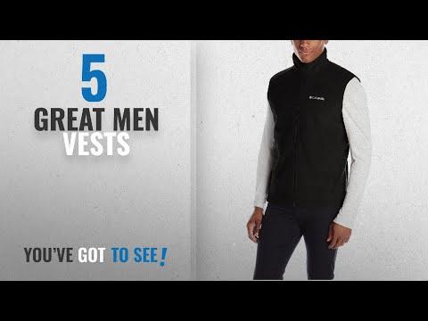Top 10 Mens Vests [ Winter 2018 ]: Columbia Men's Steens Mountain Vest, Black, Large