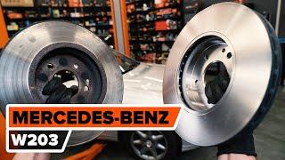 Montáž zadné a predné Brzdový kotouč MERCEDES-BENZ C-CLASS (W203): video zadarmo