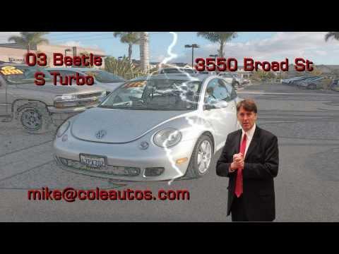 Used Cars San Luis Obispo, 03 VW Beetle by Magic Mike Cummings.