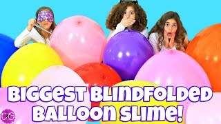 SLIME CHALLENGE - SLIME WITH GIANT BALLOONS!