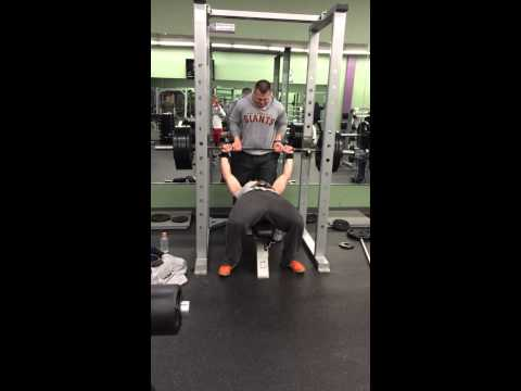 Jeremy Ryan Slate Benches 405 lbs.