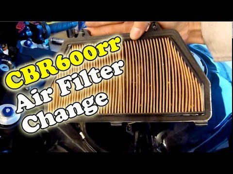 CBR600rr Air Filter Change 2007-12 Honda CBR600rr - DIY Maintenance Series