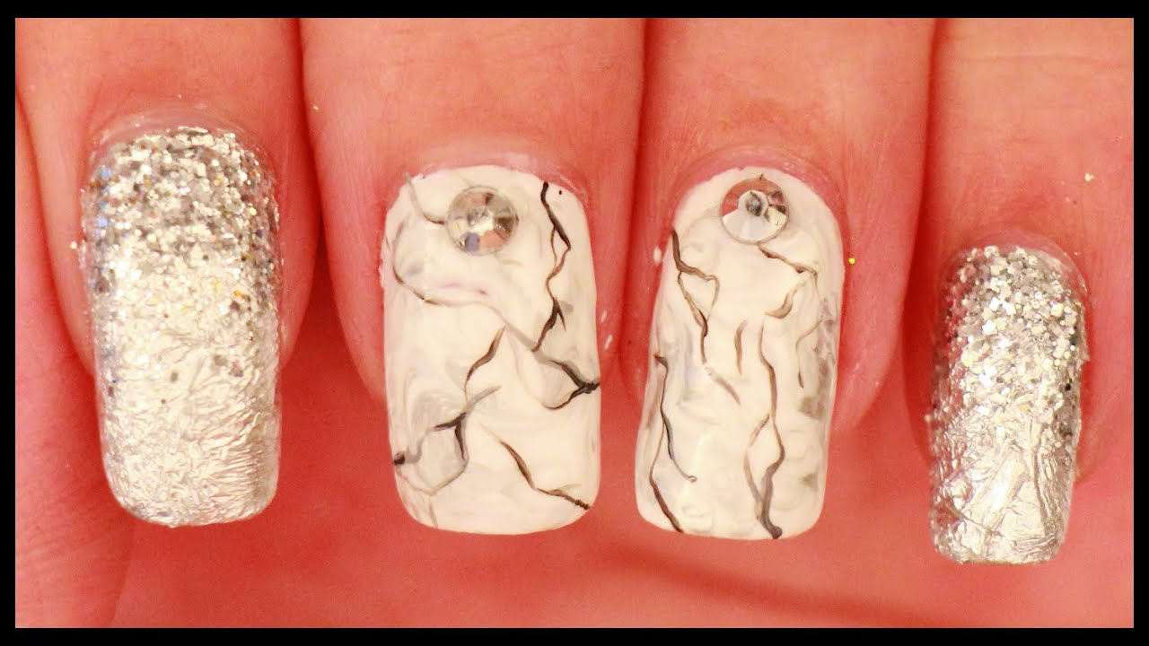 how to get marble effect nails