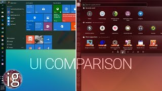 Windows 10 vs Linux | UI Comparison