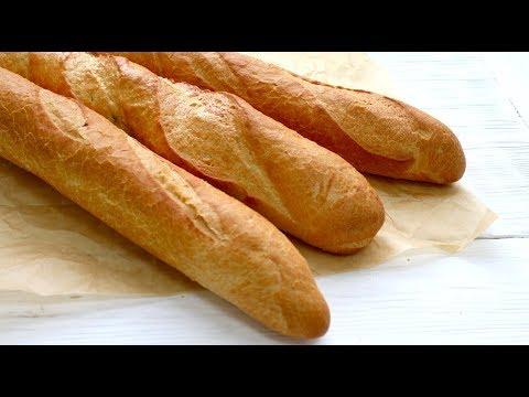 Видео как приготовить французский багет в домашних условиях