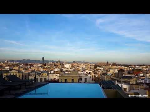 Rooftop pool on Grand Hotel Central Barcelona