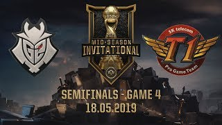 SKT vs G2 [MSI 2019][18.05.2019][Semifinals][Game 4]