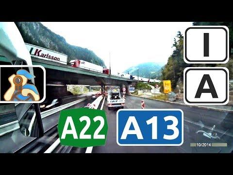 Italia. A22. Österreich. A13. ✕ Vipiteno - Innsbruck